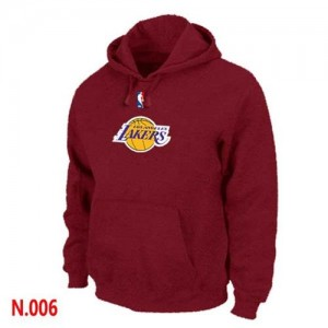 Los Angeles Lakers Sweat à capuche d'équipe de NBA - Rouge pour Homme