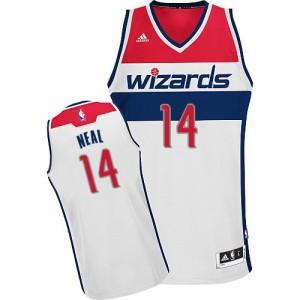Washington Wizards #14 Adidas Home Blanc Swingman Maillot d'équipe de NBA Soldes discount - Gary Neal pour Homme