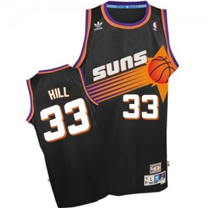 Maillot NBA Noir Grant Hill #33 Phoenix Suns Throwback Authentic Homme Adidas
