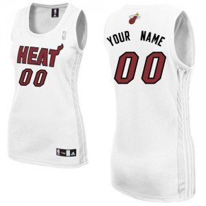 Maillot Miami Heat NBA Home Blanc - Personnalisé Authentic - Femme