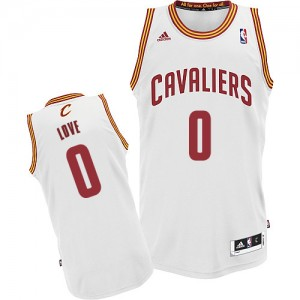 Cleveland Cavaliers Kevin Love #0 Home Swingman Maillot d'équipe de NBA - Blanc pour Enfants