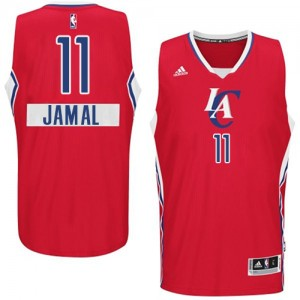Maillot NBA Los Angeles Clippers #11 Jamal Crawford Rouge Adidas Authentic 2014-15 Christmas Day - Homme