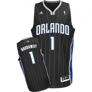 Maillot NBA Orlando Magic #1 Penny Hardaway Noir Adidas Swingman Alternate - Homme