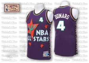 Maillot NBA Violet Joe Dumars #4 Detroit Pistons Throwback 1995 All Star Swingman Homme Adidas