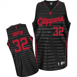 Maillot Authentic Los Angeles Clippers NBA Groove Gris noir - #32 Blake Griffin - Homme