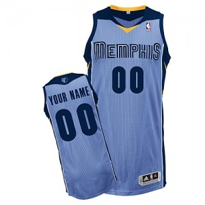Maillot Memphis Grizzlies NBA Alternate Bleu clair - Personnalisé Authentic - Homme