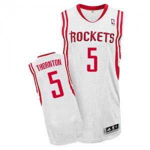 Maillot NBA Authentic Marcus Thornton #5 Houston Rockets Home Blanc - Homme