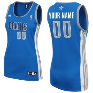 Maillot NBA Dallas Mavericks Personnalisé Swingman Bleu royal Adidas Road - Femme