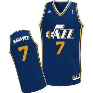 Utah Jazz Pete Maravich #7 Road Swingman Maillot d'équipe de NBA - Bleu marin pour Homme