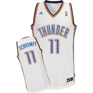 Oklahoma City Thunder Detlef Schrempf #11 Home Swingman Maillot d'équipe de NBA - Blanc pour Homme