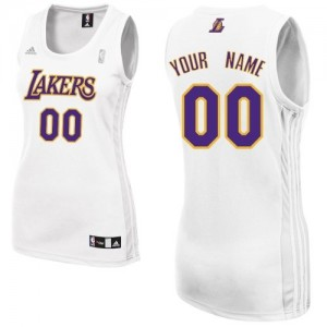 Maillot Los Angeles Lakers NBA Alternate Blanc - Personnalisé Swingman - Femme