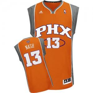 Phoenix Suns #13 Adidas Orange Authentic Maillot d'équipe de NBA pas cher en ligne - Steve Nash pour Homme
