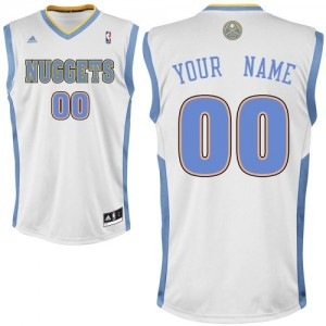 Maillot NBA Blanc Swingman Personnalisé Denver Nuggets Home Enfants Adidas