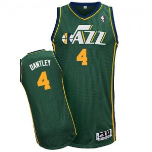 Maillot NBA Authentic Adrian Dantley #4 Utah Jazz Alternate Vert - Homme
