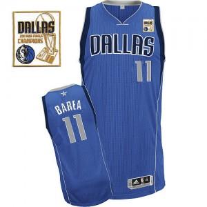 Maillot Authentic Dallas Mavericks NBA Road Champions Patch Bleu royal - #11 Jose Barea - Homme
