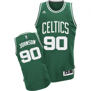 Maillot Adidas Vert (No Blanc) Road Swingman Boston Celtics - Amir Johnson #90 - Homme