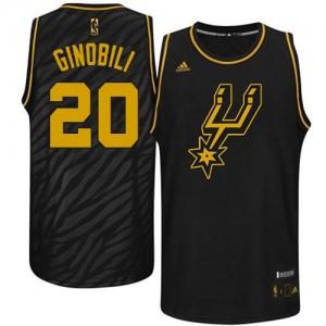Maillot NBA Authentic Manu Ginobili #20 San Antonio Spurs Precious Metals Fashion Noir - Homme