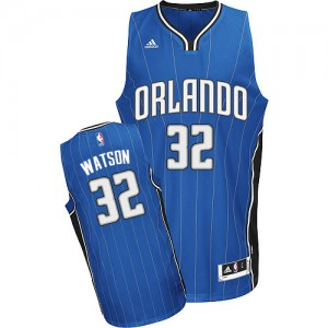 Orlando Magic C.J. Watson #32 Road Swingman Maillot d'équipe de NBA - Bleu royal pour Homme
