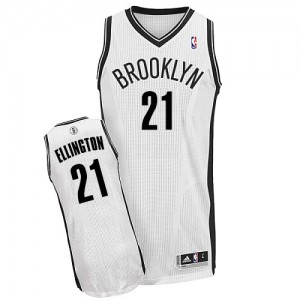 Maillot Adidas Blanc Home Authentic Brooklyn Nets - Wayne Ellington #21 - Homme