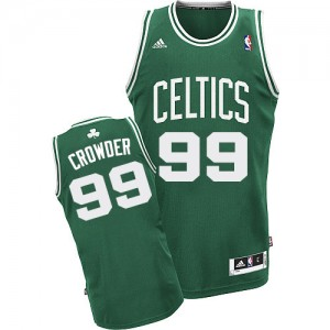 Maillot NBA Swingman Jae Crowder #99 Boston Celtics Road Vert (No Blanc) - Homme