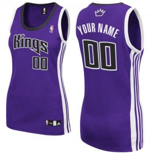 Maillot NBA Violet Authentic Personnalisé Sacramento Kings Road Femme Adidas