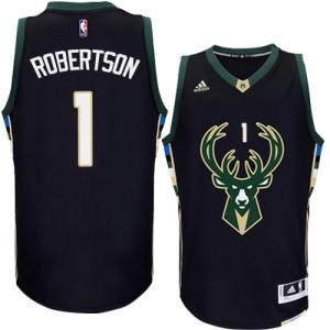 Maillot NBA Noir Oscar Robertson #1 Milwaukee Bucks Alternate Swingman Homme Adidas