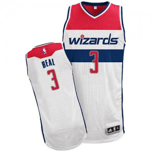 Washington Wizards #3 Adidas Home Blanc Authentic Maillot d'équipe de NBA en soldes - Bradley Beal pour Homme