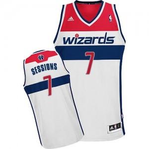 Maillot Adidas Blanc Home Swingman Washington Wizards - Ramon Sessions #7 - Homme