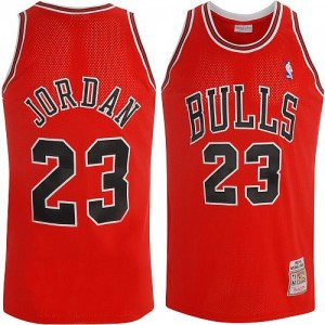 Maillot NBA Authentic Michael Jordan #23 Chicago Bulls Throwback Rouge - Homme