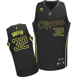 Maillot Adidas Noir Electricity Fashion Swingman Los Angeles Clippers - Blake Griffin #32 - Homme