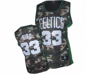 Maillot NBA Camo Larry Bird #33 Boston Celtics Stealth Collection Authentic Femme Adidas