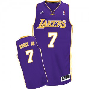 Maillot NBA Los Angeles Lakers #7 Larry Nance Jr. Violet Adidas Swingman Road - Homme