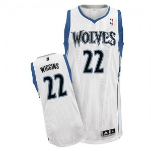 Maillot Authentic Minnesota Timberwolves NBA Home Blanc - #22 Andrew Wiggins - Homme