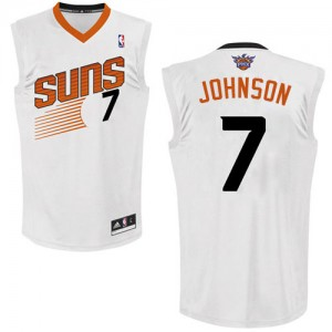 Maillot NBA Blanc Kevin Johnson #7 Phoenix Suns Home Authentic Homme Adidas