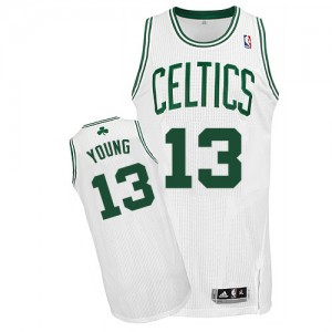 Maillot NBA Authentic James Young #13 Boston Celtics Home Blanc - Homme