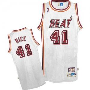 Miami Heat #41 Adidas Throwback Blanc Authentic Maillot d'équipe de NBA Prix d'usine - Glen Rice pour Homme