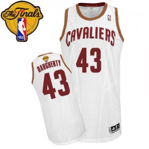 Cleveland Cavaliers #43 Adidas Home 2015 The Finals Patch Blanc Authentic Maillot d'équipe de NBA pour pas cher - Brad Daugherty pour Homme