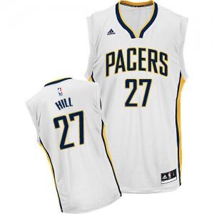 Indiana Pacers #27 Adidas Home Blanc Swingman Maillot d'équipe de NBA Discount - Jordan Hill pour Homme