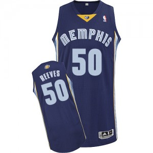 Maillot Adidas Bleu marin Road Authentic Memphis Grizzlies - Bryant Reeves #50 - Homme