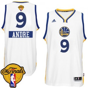 Maillot Authentic Golden State Warriors NBA 2014-15 Christmas Day 2015 The Finals Patch Blanc - #9 Andre Iguodala - Homme