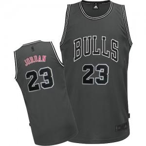 Chicago Bulls Michael Jordan #23 Graystone II Fashion Authentic Maillot d'équipe de NBA - Gris pour Homme