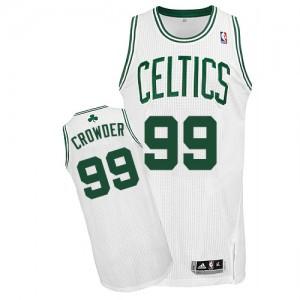 Maillot NBA Authentic Jae Crowder #99 Boston Celtics Home Blanc - Homme