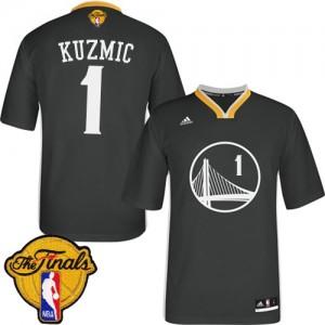 Maillot Adidas Noir Alternate 2015 The Finals Patch Authentic Golden State Warriors - Ognjen Kuzmic #1 - Homme