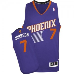 Maillot NBA Violet Kevin Johnson #7 Phoenix Suns Road Authentic Homme Adidas