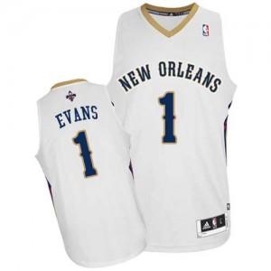New Orleans Pelicans Tyreke Evans #1 Home Authentic Maillot d'équipe de NBA - Blanc pour Homme