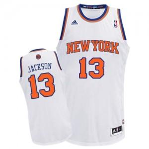 New York Knicks #13 Adidas Home Blanc Swingman Maillot d'équipe de NBA pour pas cher - Mark Jackson pour Homme