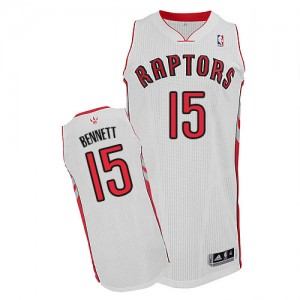 Maillot Authentic Toronto Raptors NBA Home Blanc - #15 Anthony Bennett - Homme