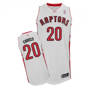 Maillot Authentic Toronto Raptors NBA Home Blanc - #20 Bruno Caboclo - Homme