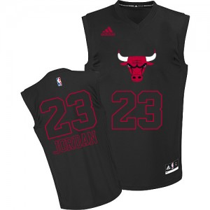 Maillot Adidas Noir New Fashion Authentic Chicago Bulls - Michael Jordan #23 - Homme
