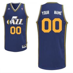 Maillot NBA Bleu marin Swingman Personnalisé Utah Jazz Road Enfants Adidas